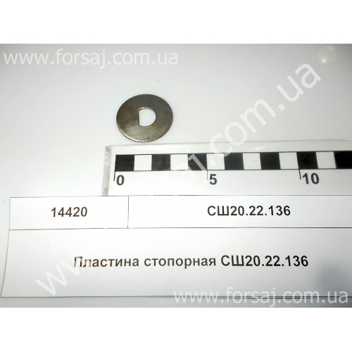 Пластина стопорная СШ20.22.136